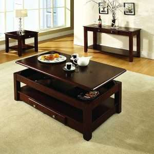 Steve Silver Company Nelson Lift-Top Cocktail Table, Cherry 3